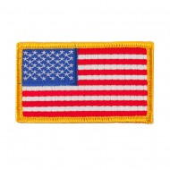 Assorted Patriotic Patches with Velcro - Gold
