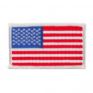 Assorted Patriotic Patches with Velcro - White