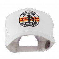 Viet Cong Hunting Club Outline Embroidered Cap - White