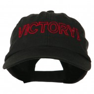Victory Embroidered Washed Cap - Black