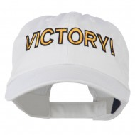 Victory Embroidered Washed Cap - White