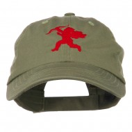 Valentine Cupid Embroidered Cap - Olive