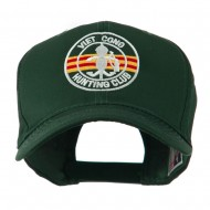 Viet Cong Hunting Club Outline Embroidered Cap - Green