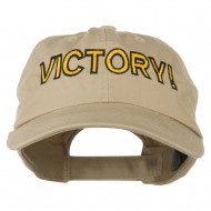 Victory Embroidered Washed Cap - Khaki