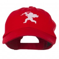 Valentine Cupid Embroidered Cap - Red
