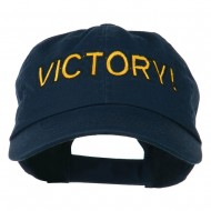 Victory Embroidered Washed Cap - Navy
