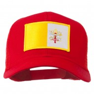 Vatican City Flag Patched Mesh Cap - Red