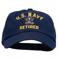 US Navy Retired Embroidered Pet Spun Cap - Navy