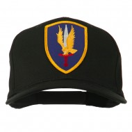 1st Aviation Army Shield Patched Cap - Black
