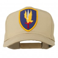 1st Aviation Army Shield Patched Cap - Khaki