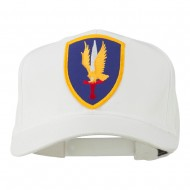 1st Aviation Army Shield Patched Cap - White