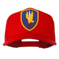 1st Aviation Army Shield Patched Cap - Red
