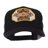 Veteran Embroidered Military Patched Mesh Cap - Viet Vet