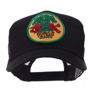 Veteran Embroidered Military Patched Mesh Cap - Rep