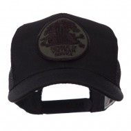 Veteran Embroidered Military Patched Mesh Cap - Viet Service