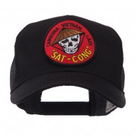 Veteran Embroidered Military Patched Mesh Cap - Sat Cong