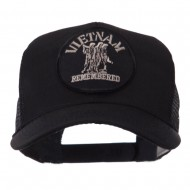 Veteran Embroidered Military Patched Mesh Cap - Vietnam Remembered