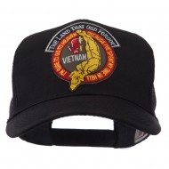 Veteran Embroidered Military Patched Mesh Cap - Land