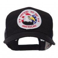 Veteran Embroidered Military Patched Mesh Cap - Proud American