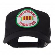 Veteran Embroidered Military Patched Mesh Cap - Brother Forever