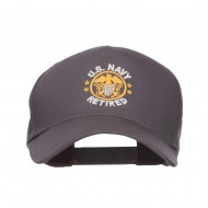 US Navy Retired Circle Symbol Embroidered Cap - Charcoal Grey