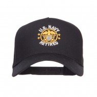 US Navy Retired Circle Symbol Embroidered Cap - Black