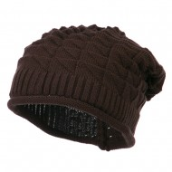 New Vintage Deep Shell Beanie - Brown