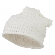 New Vintage Deep Shell Beanie - White