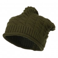 New Vintage Deep Shell Beanie - Olive
