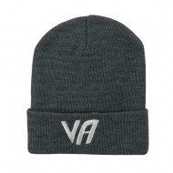 State VA Embroidered Long Beanie - Grey