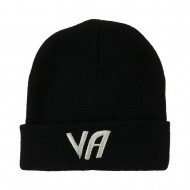 State VA Embroidered Long Beanie - Black