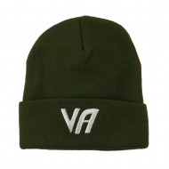 State VA Embroidered Long Beanie - Olive