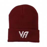State VA Embroidered Long Beanie - Maroon