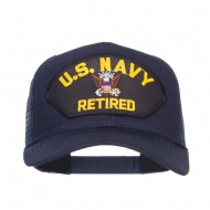 US Navy Retired Military Patched Mesh Back Cap - Navy