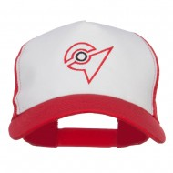 Ash Ketchum Unova League Embroidered Mesh Cap - White Red