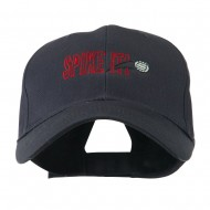 Spike It Volleyball Logo Embroidered Cap - Navy