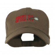 Spike It Volleyball Logo Embroidered Cap - Brown