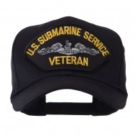 Veteran Military Large Patch Cap - Submarine Service