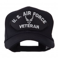 Veteran Military Large Patch Cap - White Air