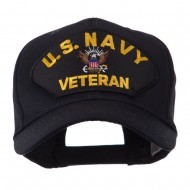 Veteran Military Large Patch Cap - US Navy