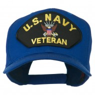 US Navy Veteran Military Patched High Profile Cap - Royal