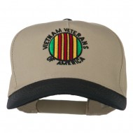 Vietnam Veteran of America Embroidered Cap - Black Khaki