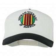 Vietnam Veteran of America Embroidered Cap - Black White
