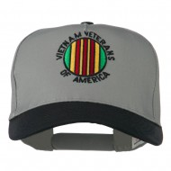 Vietnam Veteran of America Embroidered Cap - Black Grey