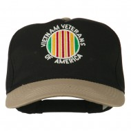 Vietnam Veteran of America Embroidered Cap - Khaki Black