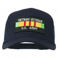 Vietnam Army Veteran Patched Mesh Cap - Navy