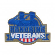 US Veterans Embroidered Patches - Olive