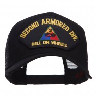 US Army 2nd Division Patched Mesh Cap - Black