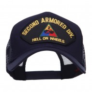 US Army 2nd Division Patched Mesh Cap - Navy