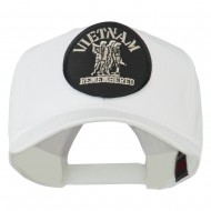 Vietnam Remembered Military Patched High Profile Cap - White